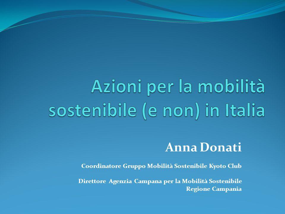 Azioni per la mobilità sostenibile (e non) in Italia