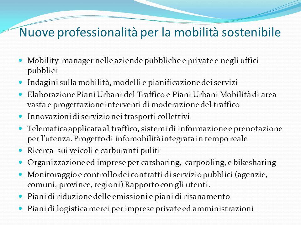 Nuove professionalità per la mobilità sostenibile