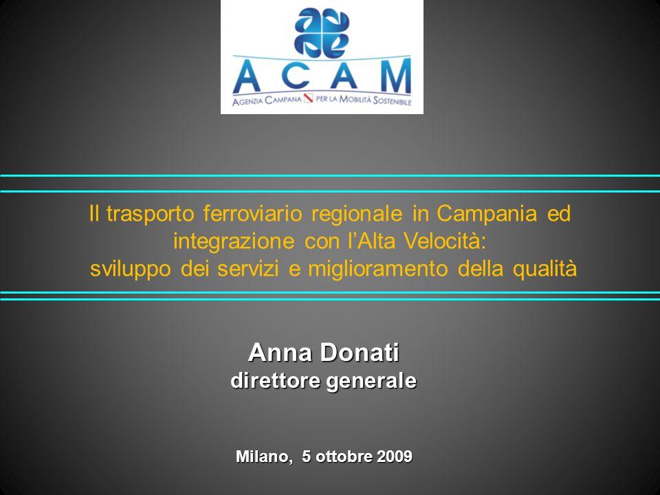 Il trasporto ferroviario regionale in Campania ed integrazione con l'Alta Velocità: sviluppo dei servizi e miglioramento della qualità