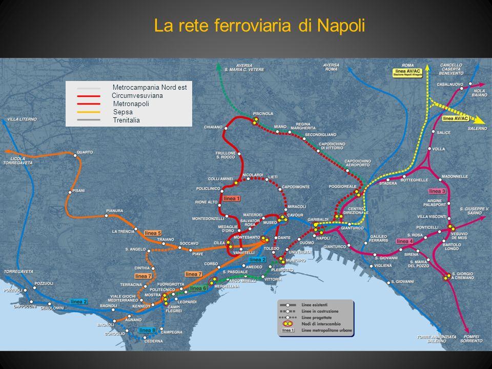 La rete ferroviaria di Napoli