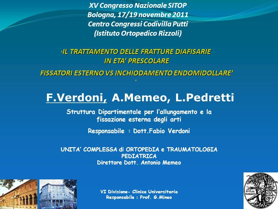 F.Verdoni, A.Memeo, L.Pedretti