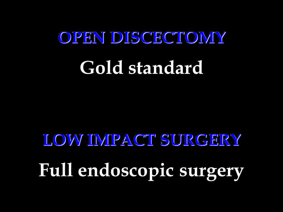 Full endoscopic surgery