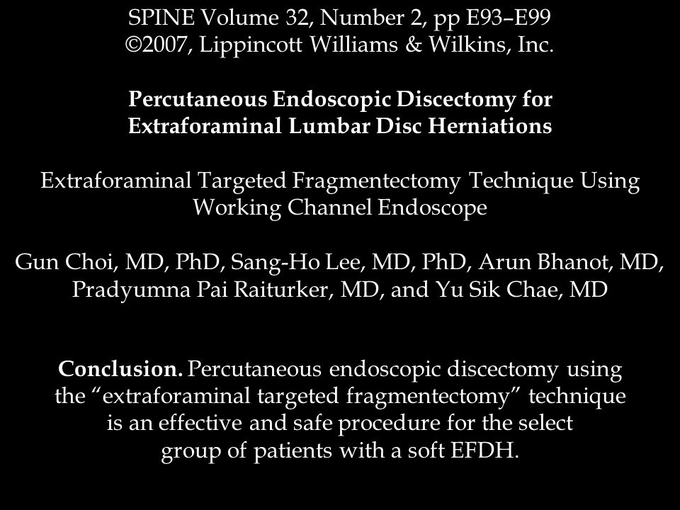 SPINE Volume 32, Number 2, pp E93–E99