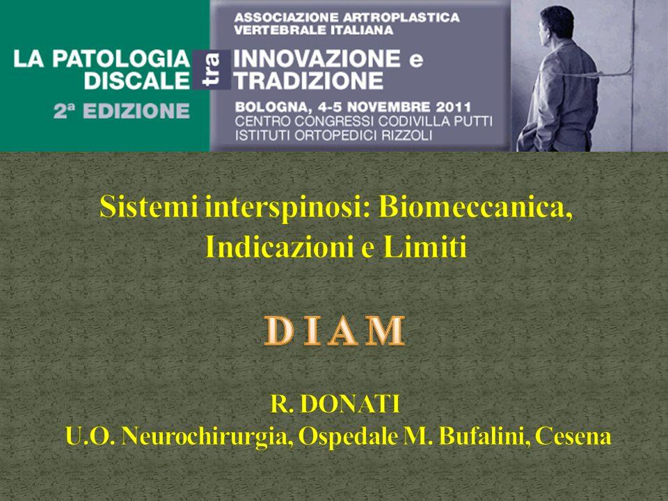 Sistemi interspinosi: Biomeccanica, Indicazioni e Limiti D I A M R