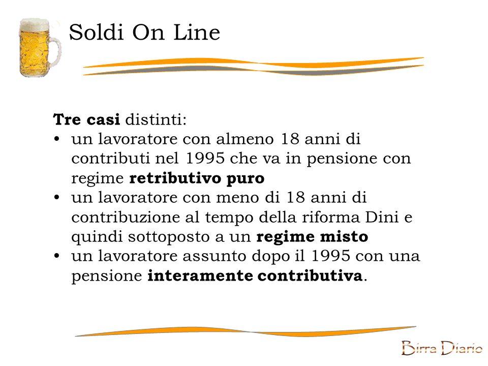 Soldi On Line Tre casi distinti: