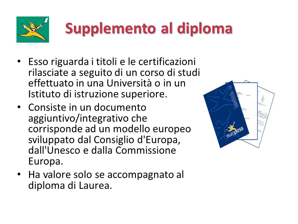 Supplemento al diploma