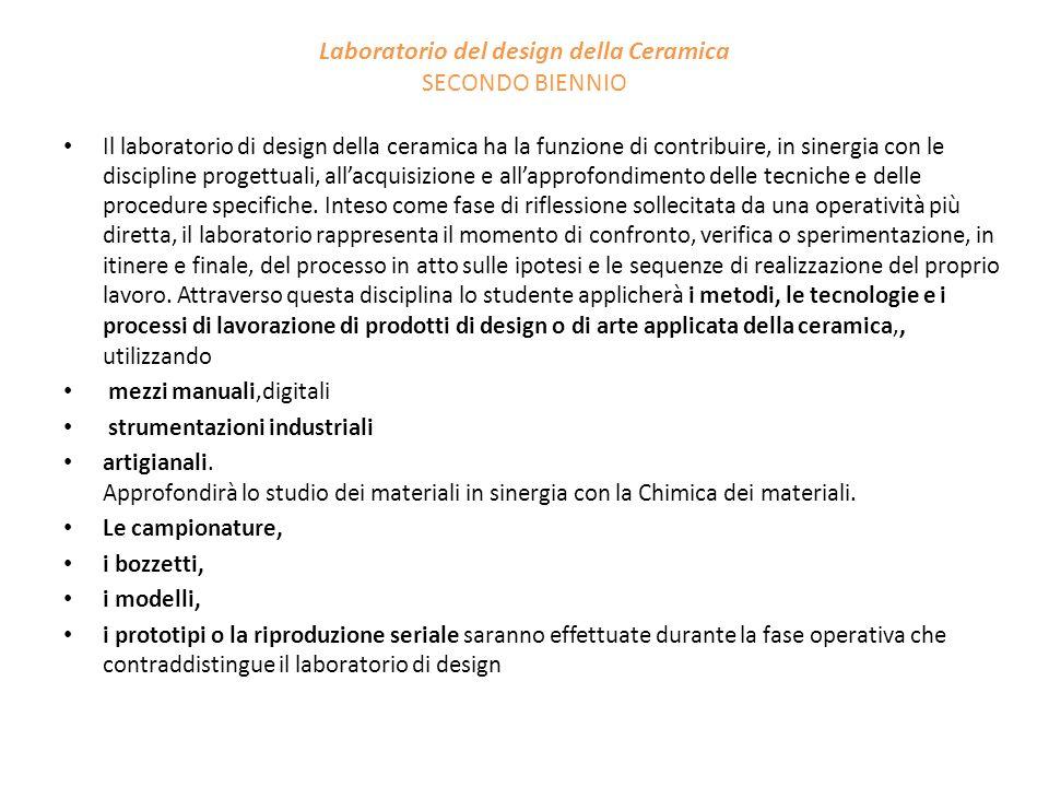Laboratorio del design della Ceramica SECONDO BIENNIO