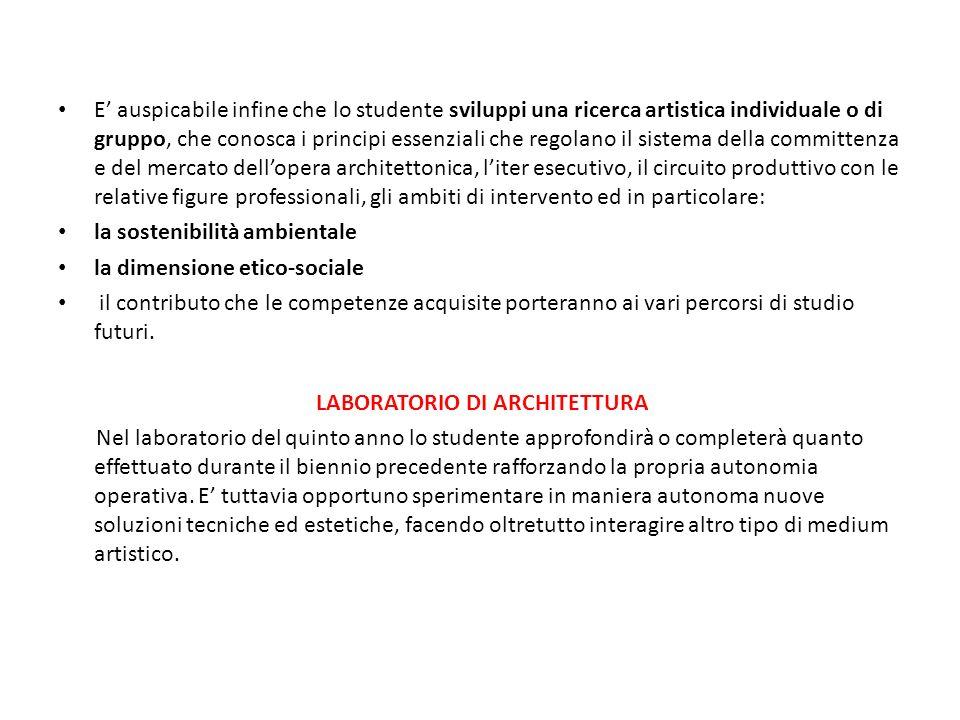 LABORATORIO DI ARCHITETTURA