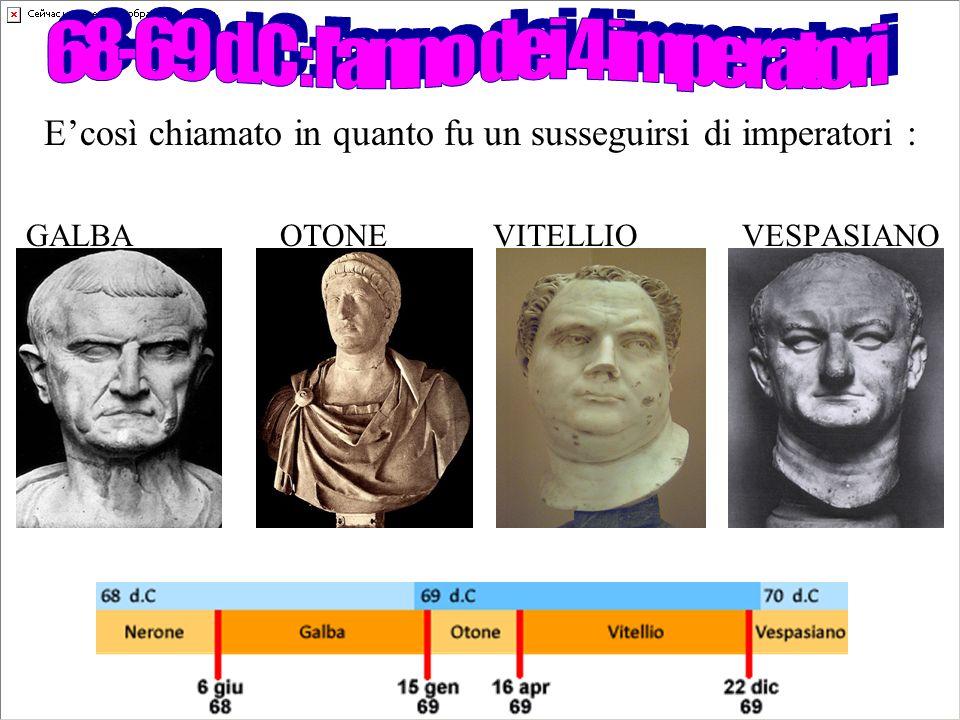 68-69 d.C : l anno dei 4 imperatori
