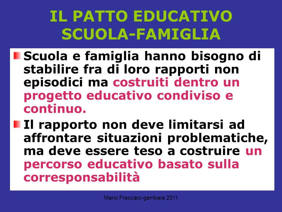 IL PATTO EDUCATIVO SCUOLA-FAMIGLIA