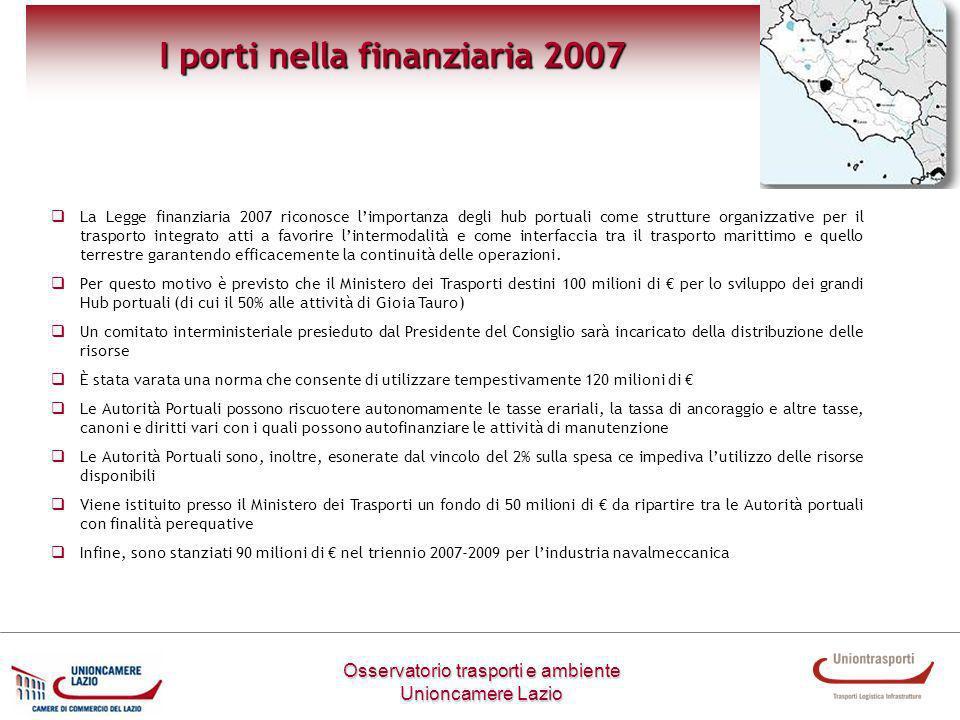 I porti nella finanziaria 2007