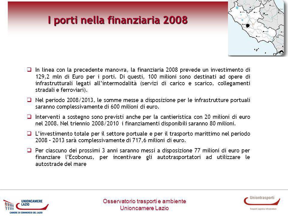 I porti nella finanziaria 2008