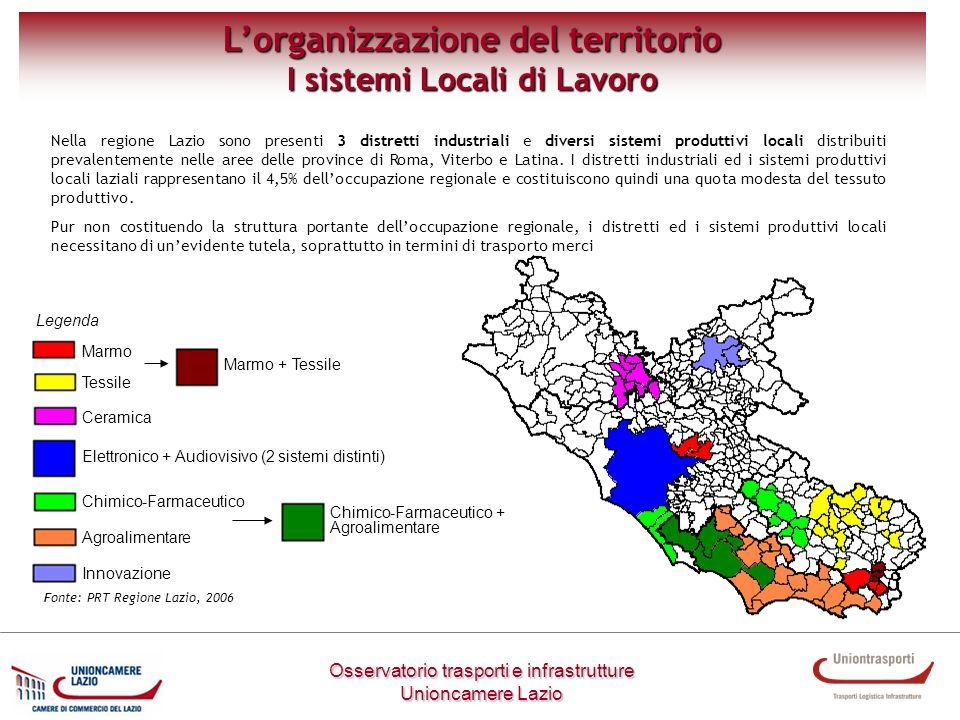 L'organizzazione del territorio I sistemi Locali di Lavoro