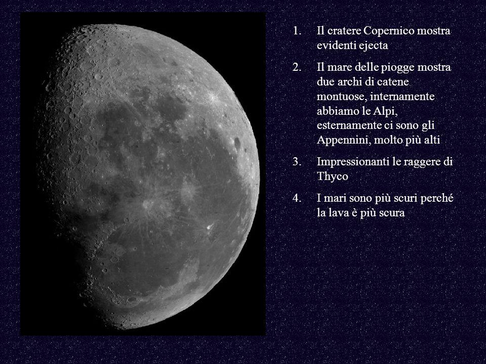 Il cratere Copernico mostra evidenti ejecta