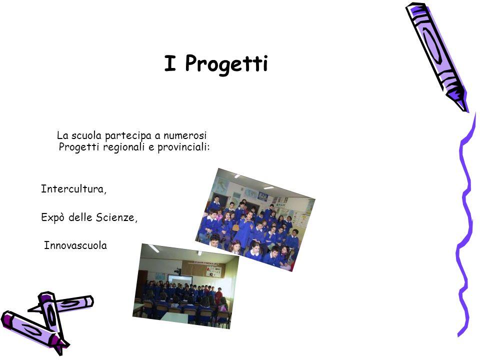 I Progetti La scuola partecipa a numerosi Progetti regionali e provinciali: Intercultura, Expò delle Scienze,