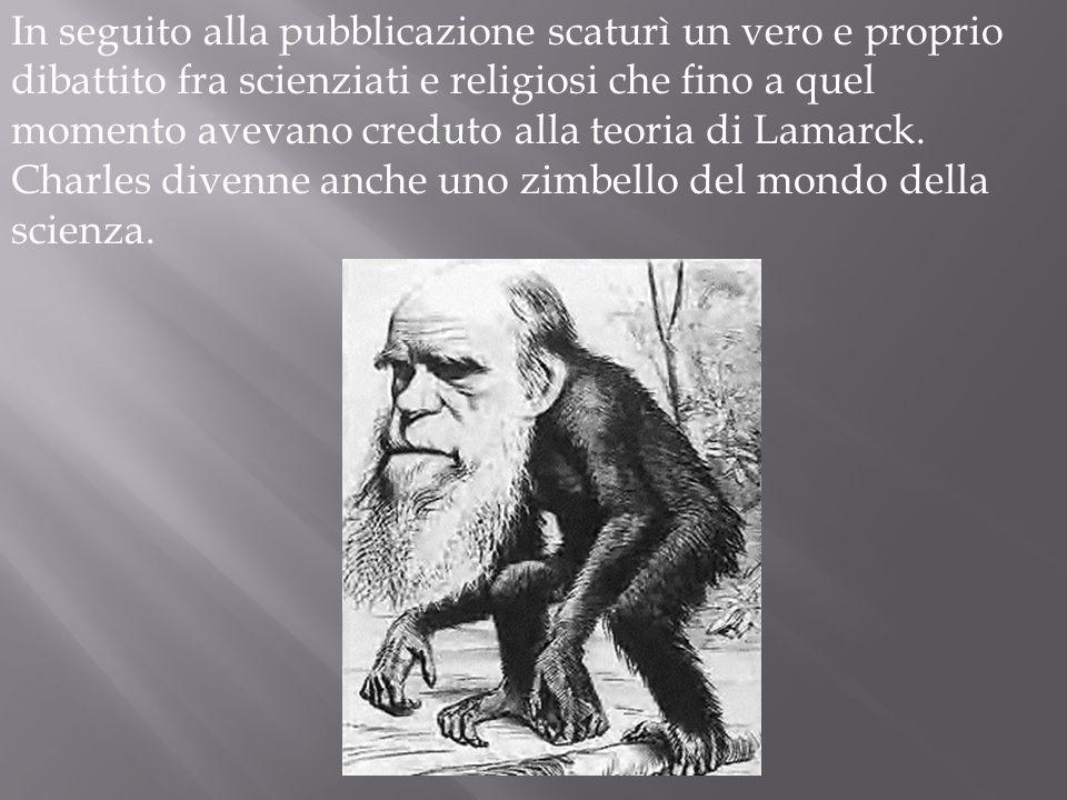 In seguito alla pubblicazione scaturì un vero e proprio dibattito fra scienziati e religiosi che fino a quel momento avevano creduto alla teoria di Lamarck.