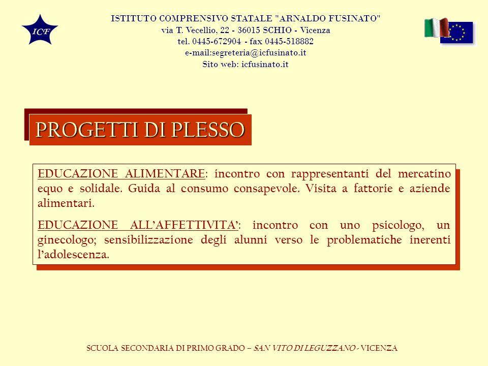 SCUOLA SECONDARIA DI PRIMO GRADO – SAN VITO DI LEGUZZANO - VICENZA