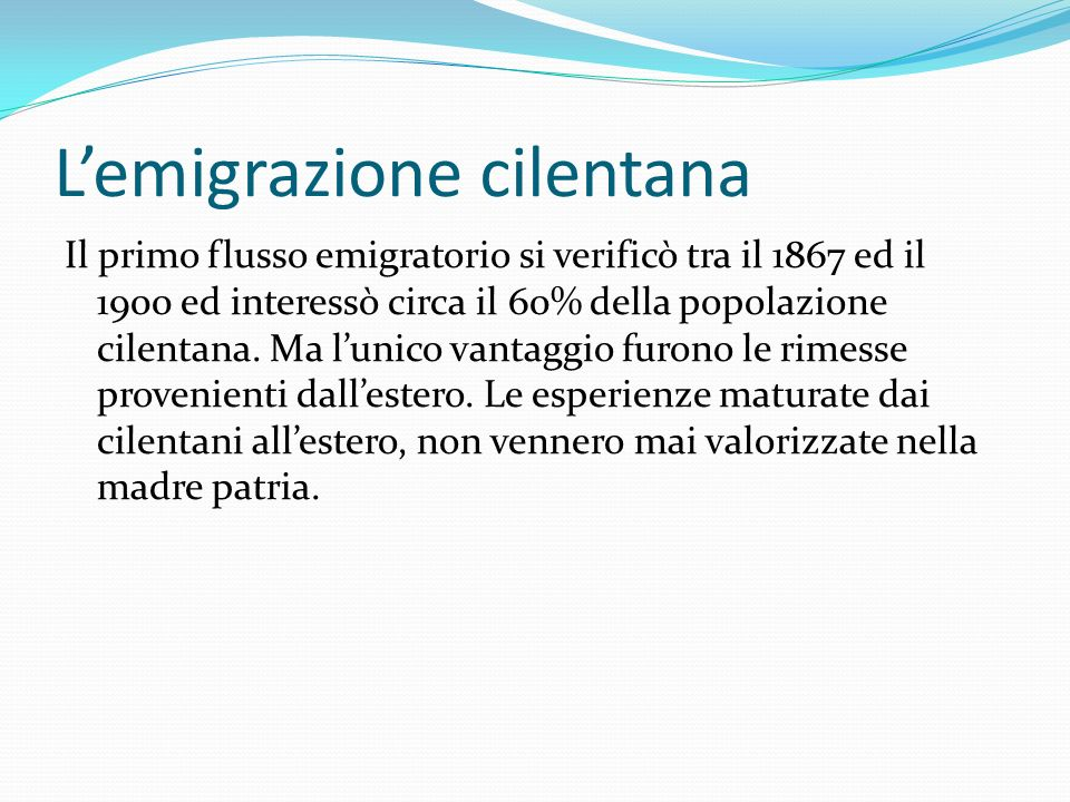 L'emigrazione cilentana