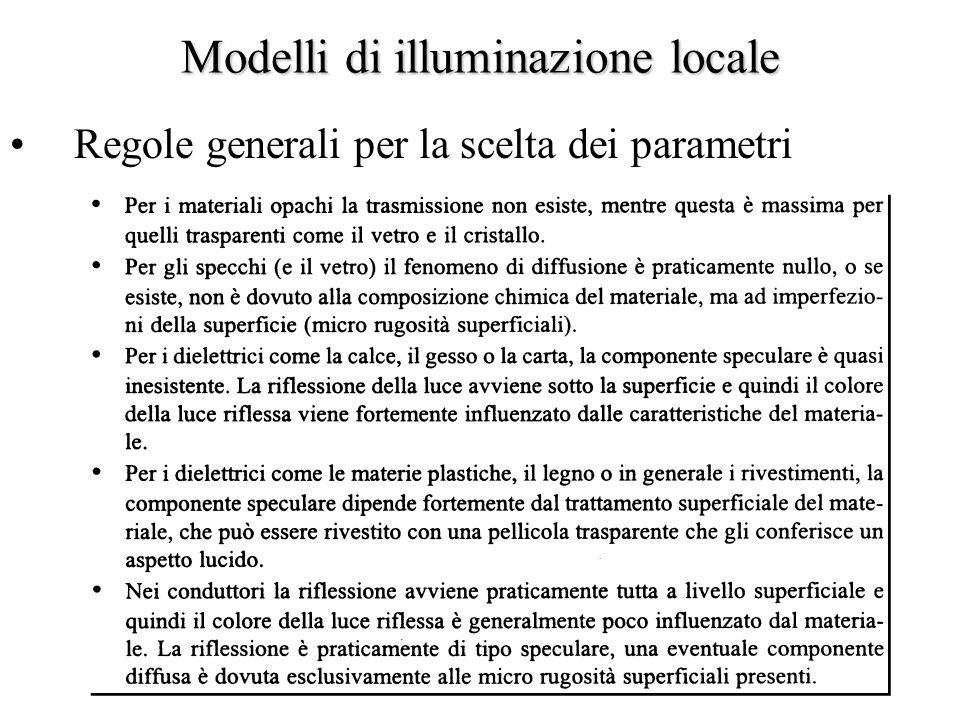 Modelli di illuminazione locale