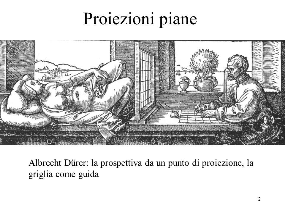 Proiezioni piane Albrecht Dürer: la prospettiva da un punto di proiezione, la griglia come guida
