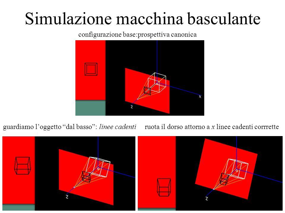 Simulazione macchina basculante