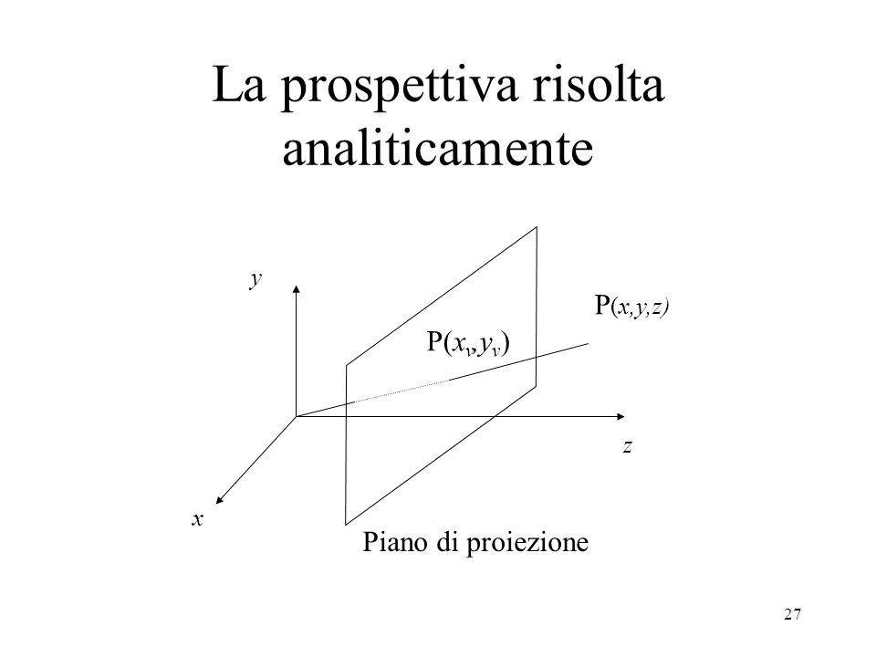 La prospettiva risolta analiticamente