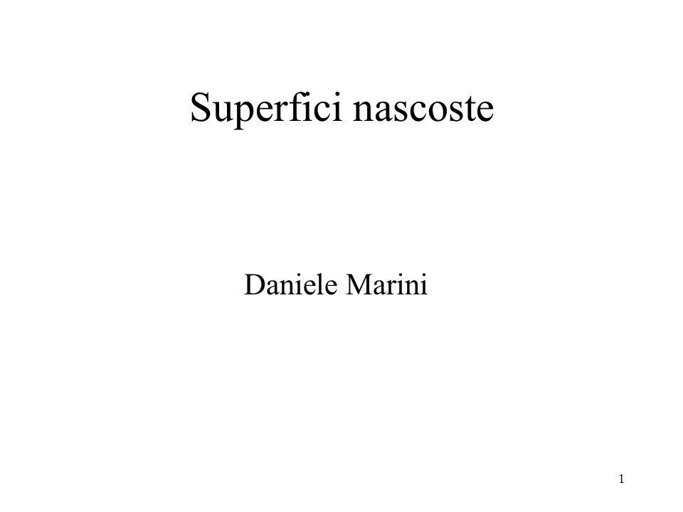 Superfici nascoste Daniele Marini