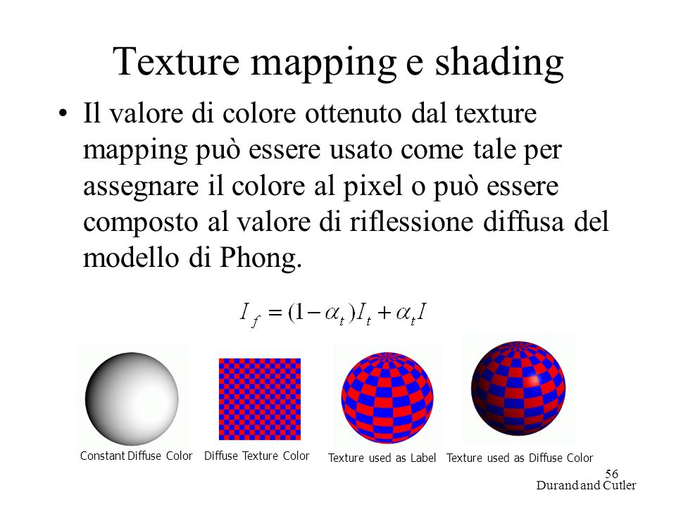 Texture mapping e shading