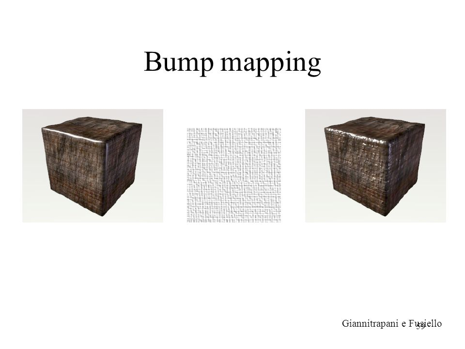 Bump mapping Giannitrapani e Fusiello
