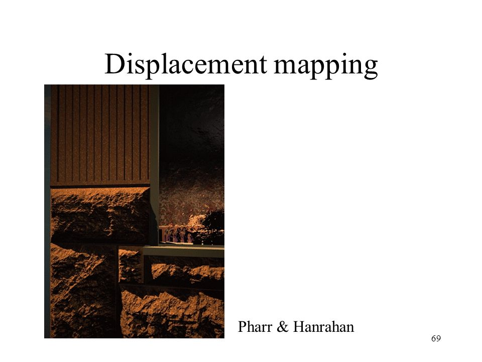 Displacement mapping Pharr & Hanrahan