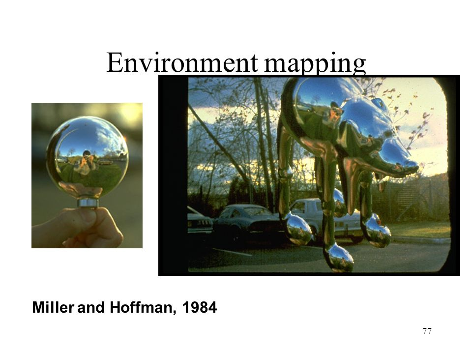 Environment mapping Miller and Hoffman, 1984