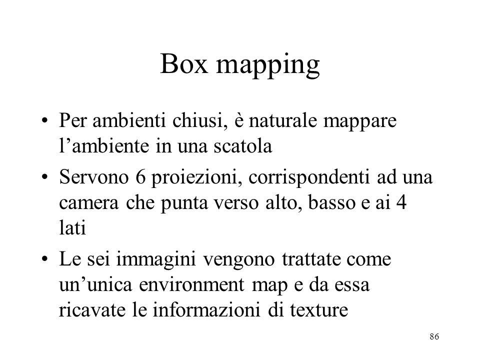 Box mapping Per ambienti chiusi, è naturale mappare l'ambiente in una scatola.