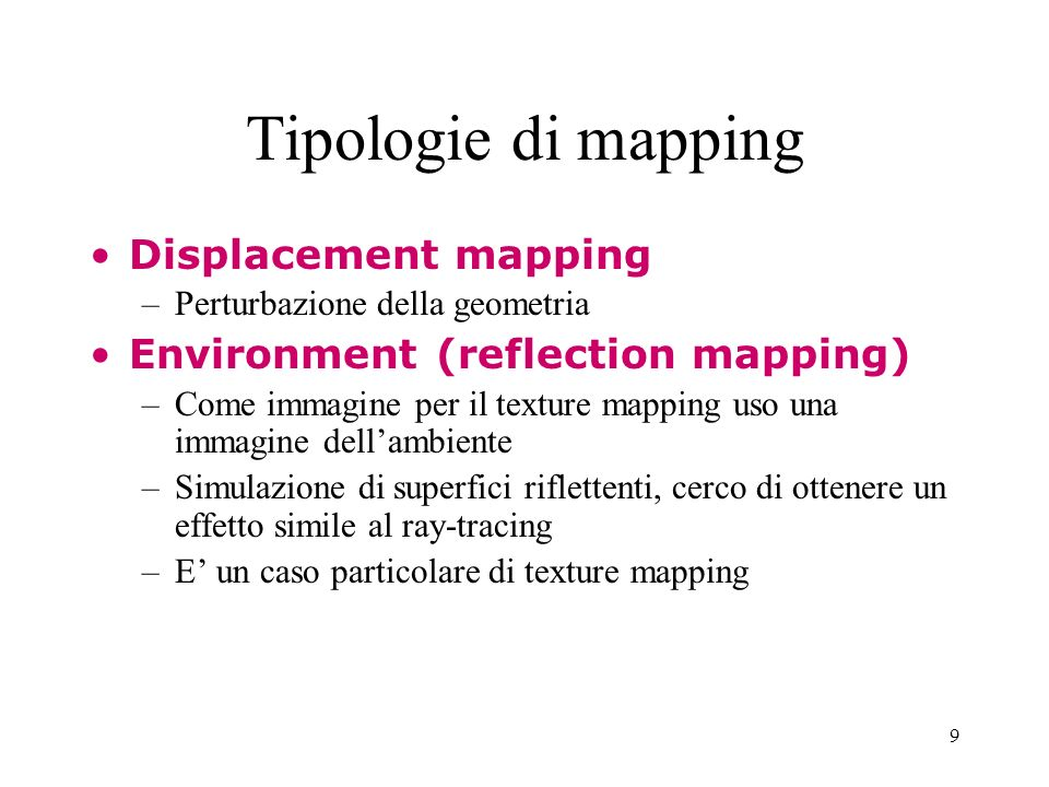 Tipologie di mapping Displacement mapping
