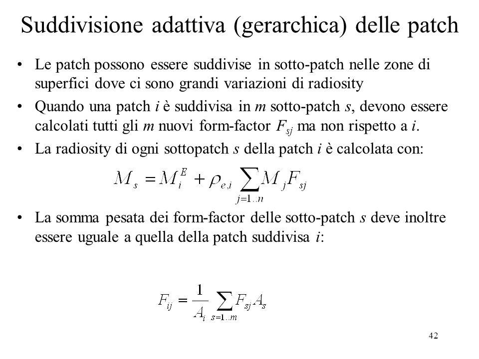 Suddivisione adattiva (gerarchica) delle patch