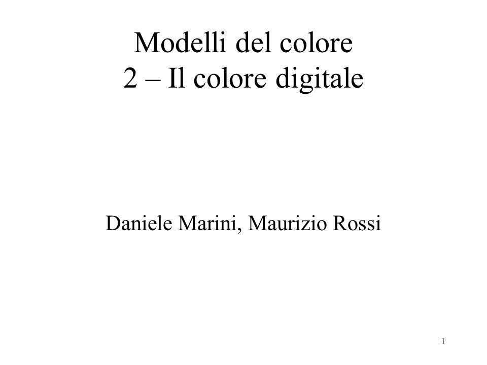 Modelli del colore 2 – Il colore digitale