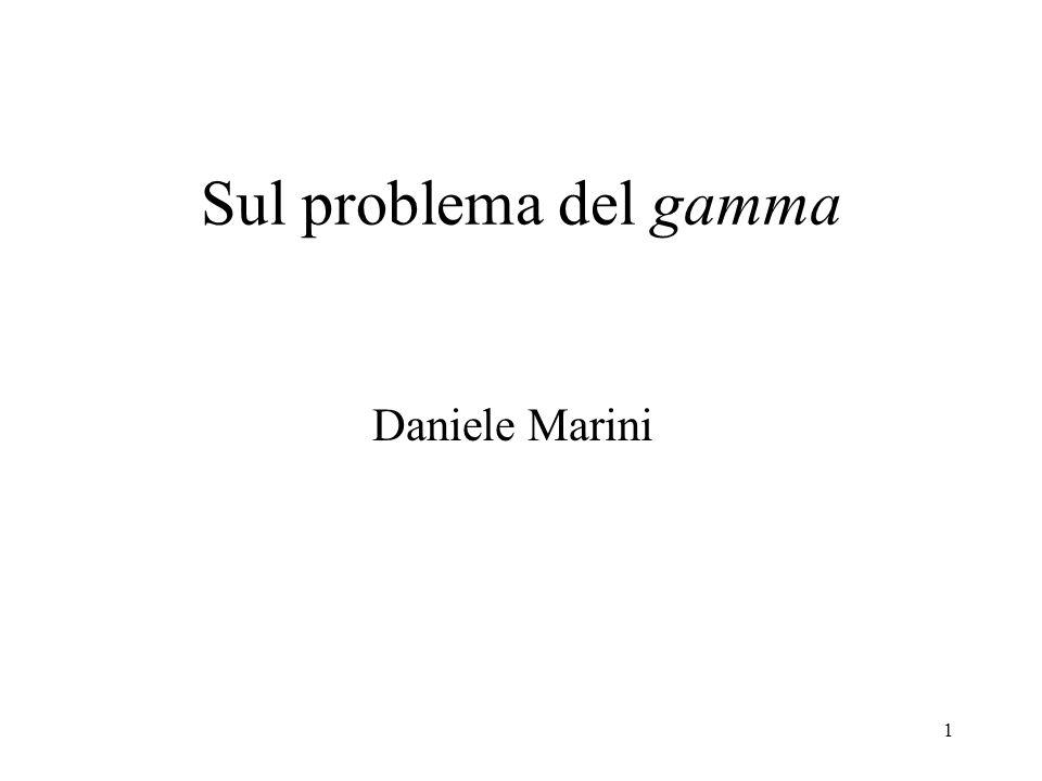 Sul problema del gamma Daniele Marini
