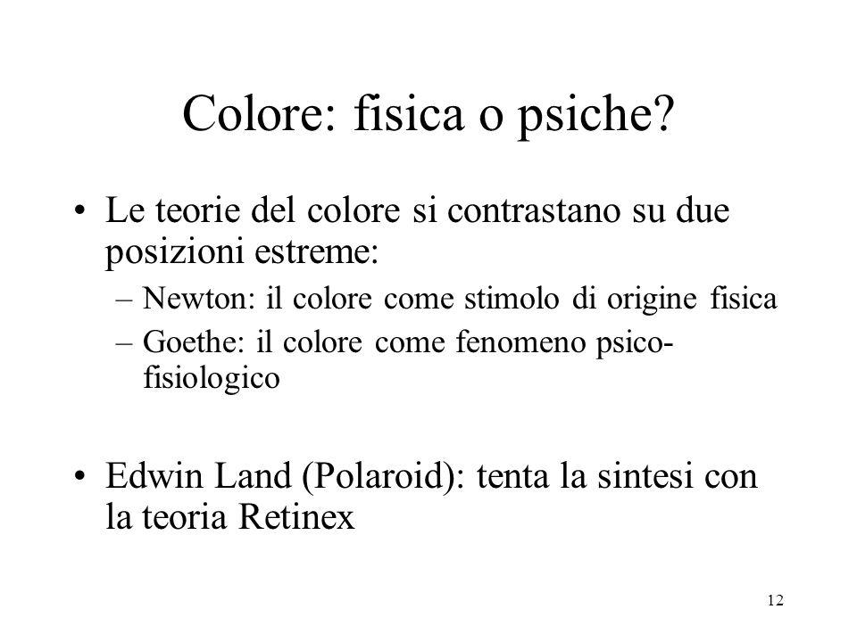 Colore: fisica o psiche