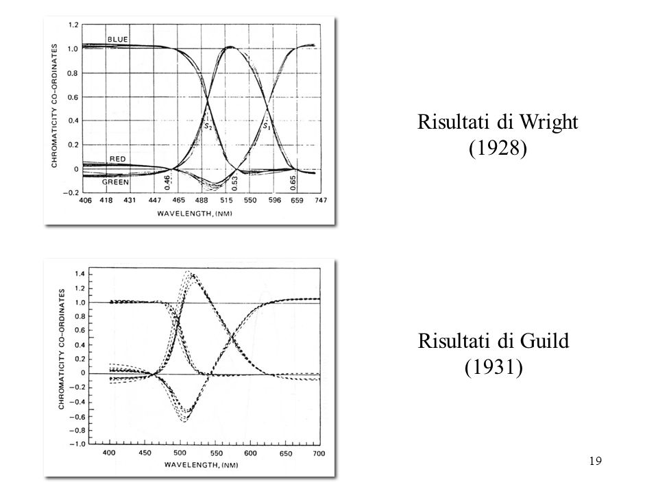 Risultati di Wright (1928) Risultati di Guild (1931)