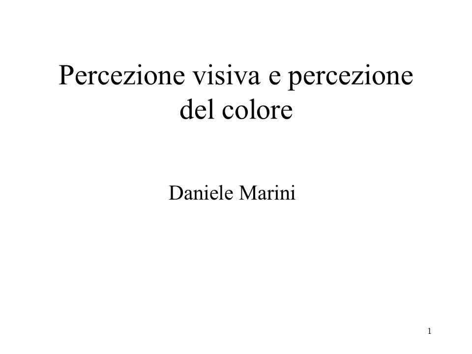 Percezione visiva e percezione del colore