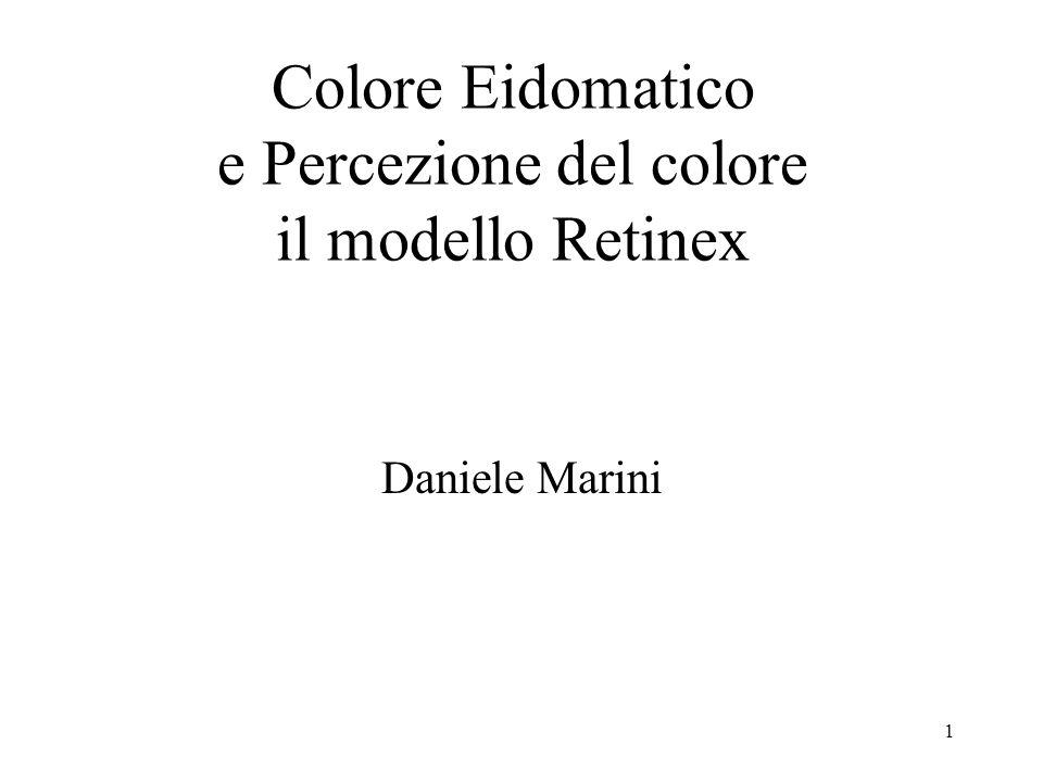 Colore Eidomatico e Percezione del colore il modello Retinex