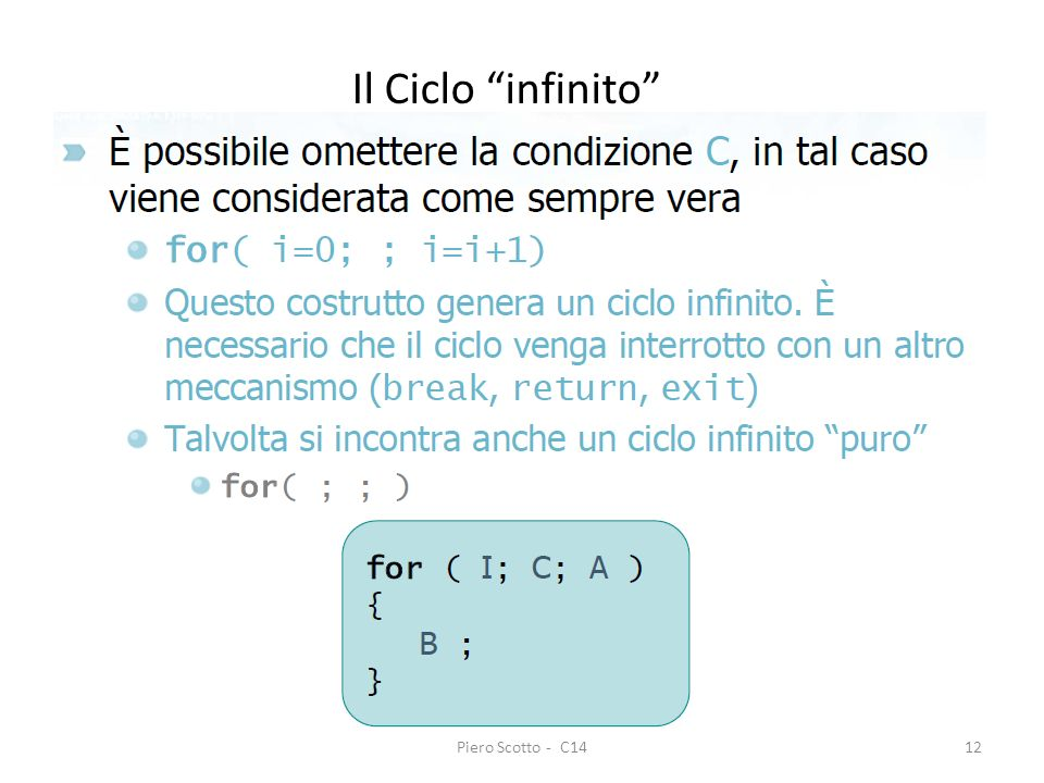 Il Ciclo infinito Piero Scotto - C14