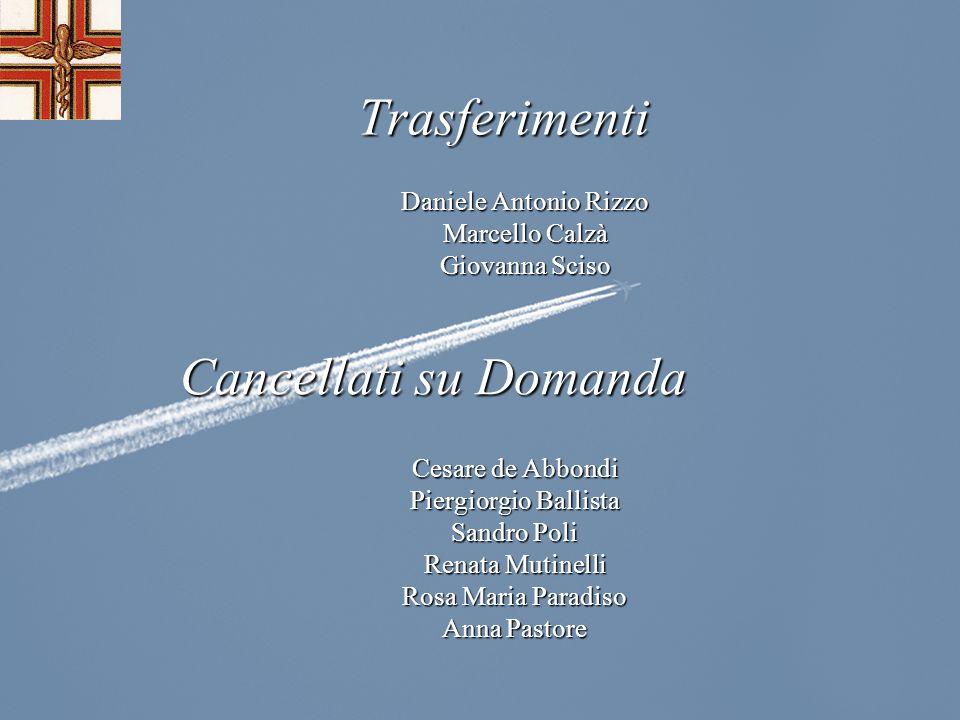 Trasferimenti Cancellati su Domanda Daniele Antonio Rizzo