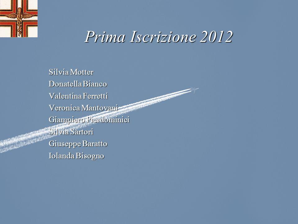 Prima Iscrizione 2012 Silvia Motter Donatella Bianco