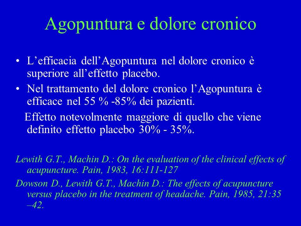 Agopuntura e dolore cronico