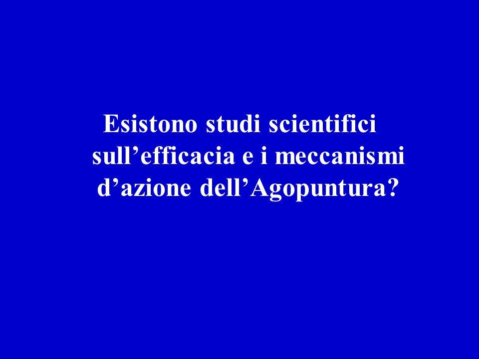 Esistono studi scientifici sull'efficacia e i meccanismi d'azione dell'Agopuntura