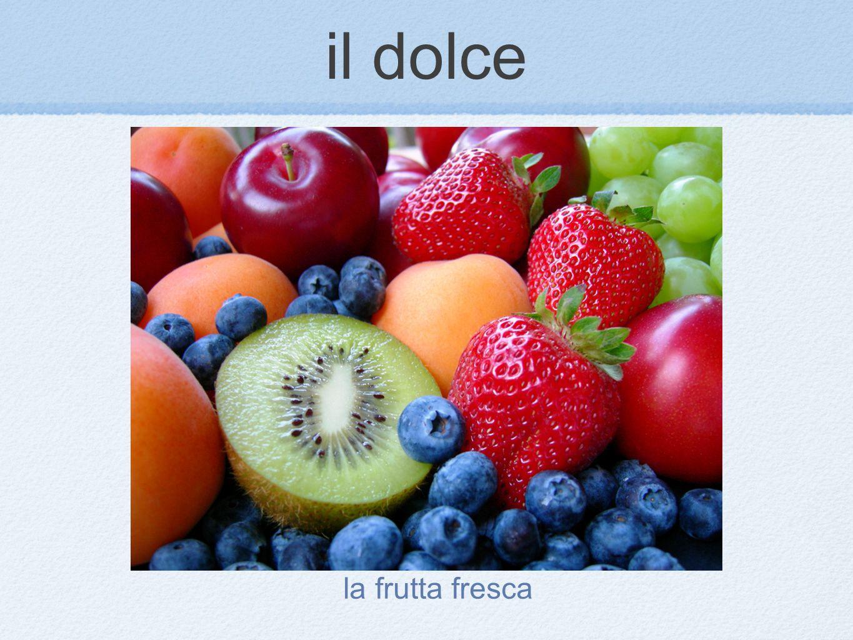 il dolce la frutta fresca