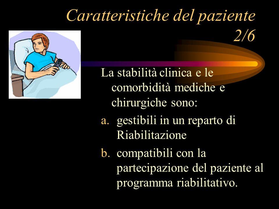 Caratteristiche del paziente 2/6