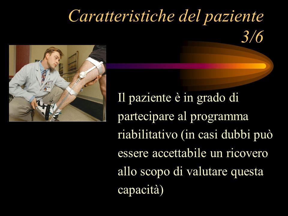 Caratteristiche del paziente 3/6