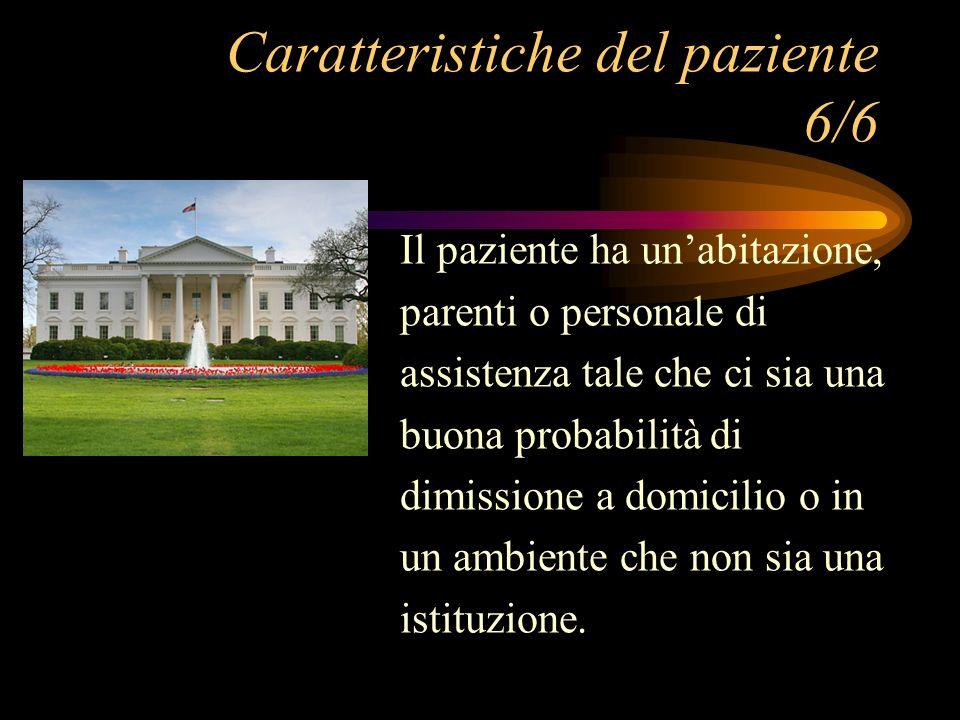 Caratteristiche del paziente 6/6