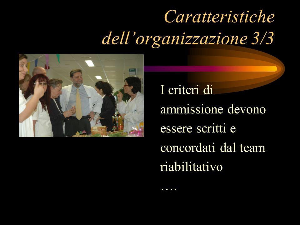 Caratteristiche dell'organizzazione 3/3